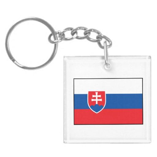 Slovakia – Slovak Flag Acrylic Keychains from The Flag Gift Shop 'zazzle