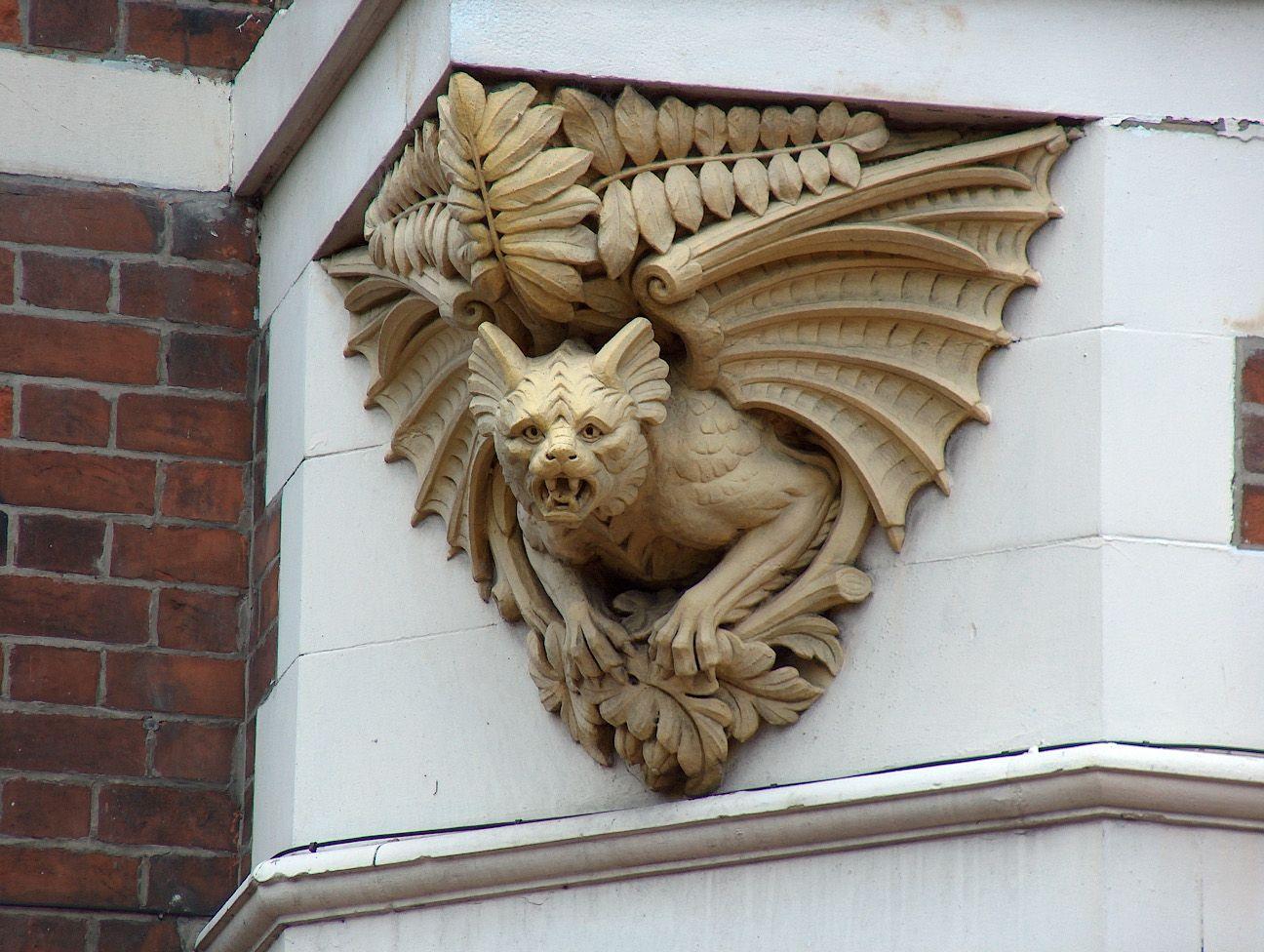 Gargoyle Bat Ferns Nottingham England