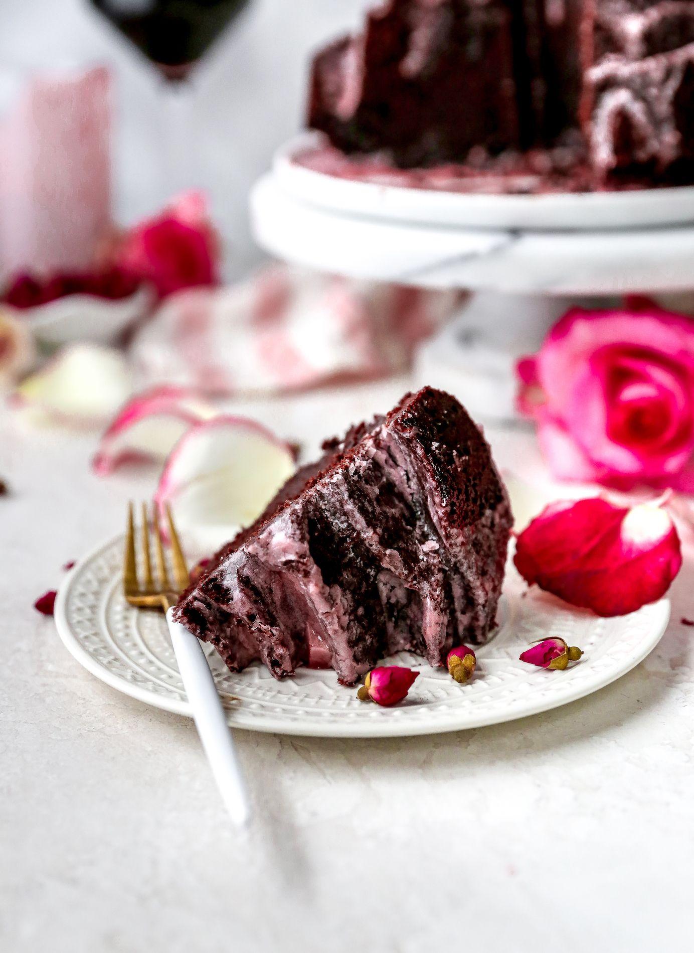 Chocolate cake with red wine glaze in 2020 wine