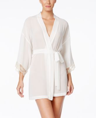 7a4f246e7e9 Flora by Flora Nikrooz Lace-Trim Bridal Robe  43.40 Delicate lace at the  cuffs is a lovely accent to this chiffon kimono from Flora by Flora Nikrooz.