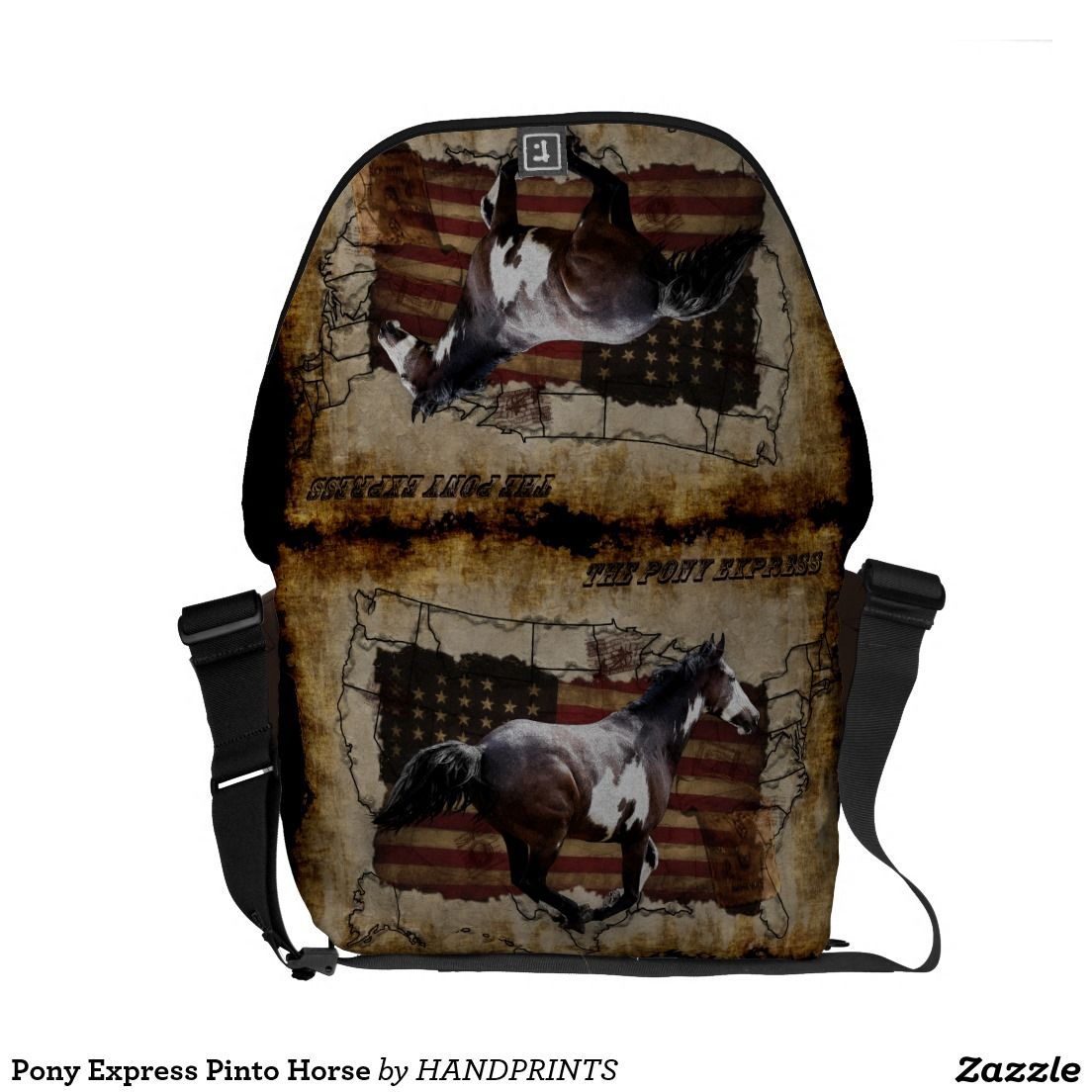 Pony Express Pinto Horse Messenger Bags