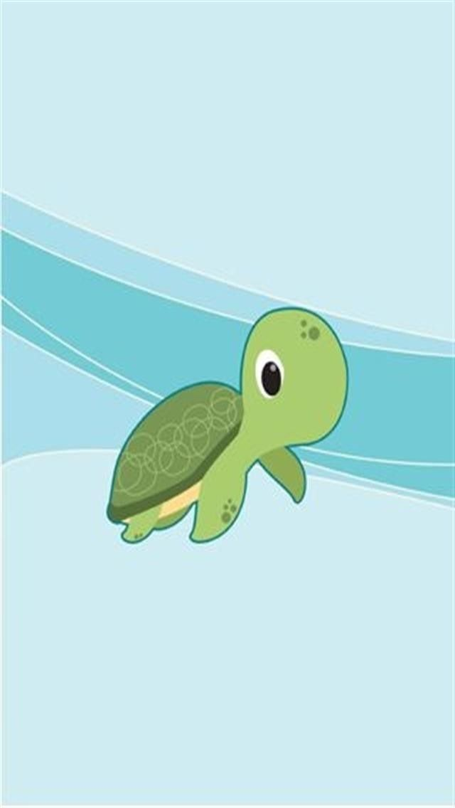 Cartoon Baby Turtle Iphone Wallpaper Background