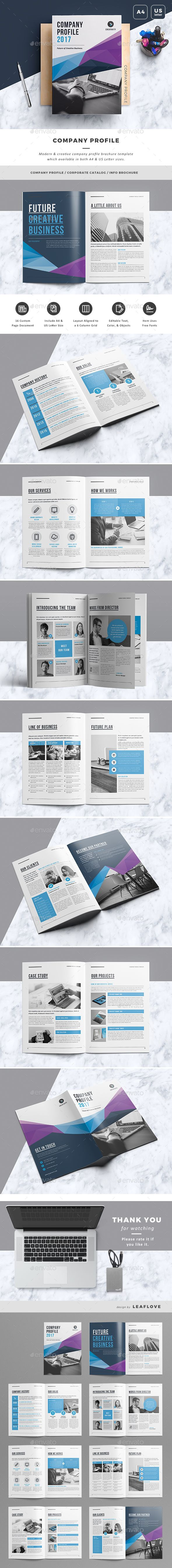 Company Profile — InDesign INDD #business #solution • Download ...