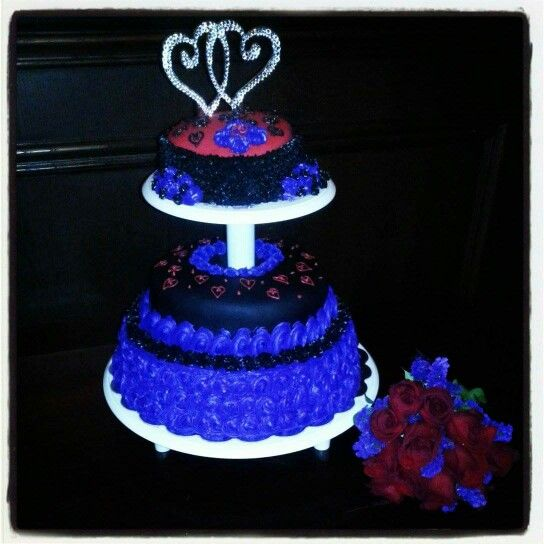 Blacklight Wedding cake