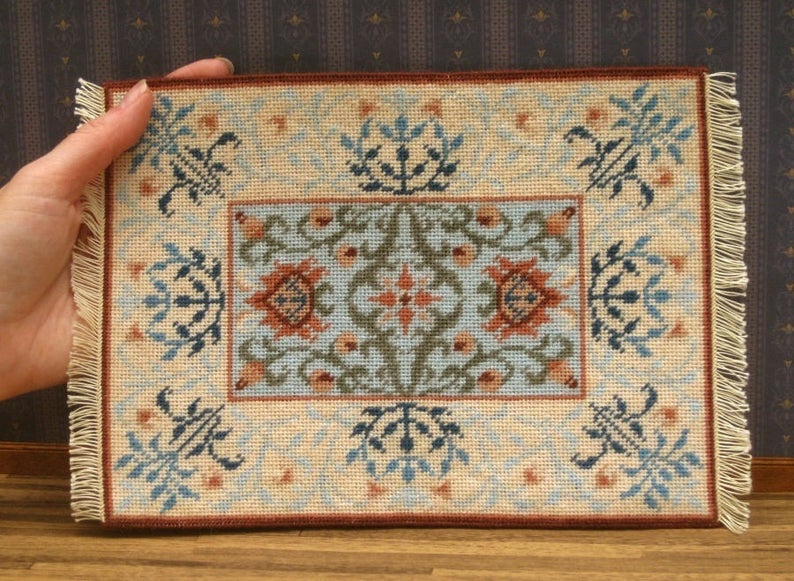 8 x 6 inches 1:12 scale Dollhouse Rug  Approx