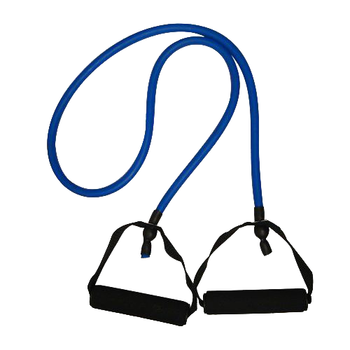 Nu-Source Resistance Band with Grip, 4-Feet, Blue 4 ft. Resistant Band with two high grip handles Specially designed for resistance training Made from durable TPR foam with secure handles Ideal for medium level resistance training A lightweight exercise tool, easy to stow and travel with