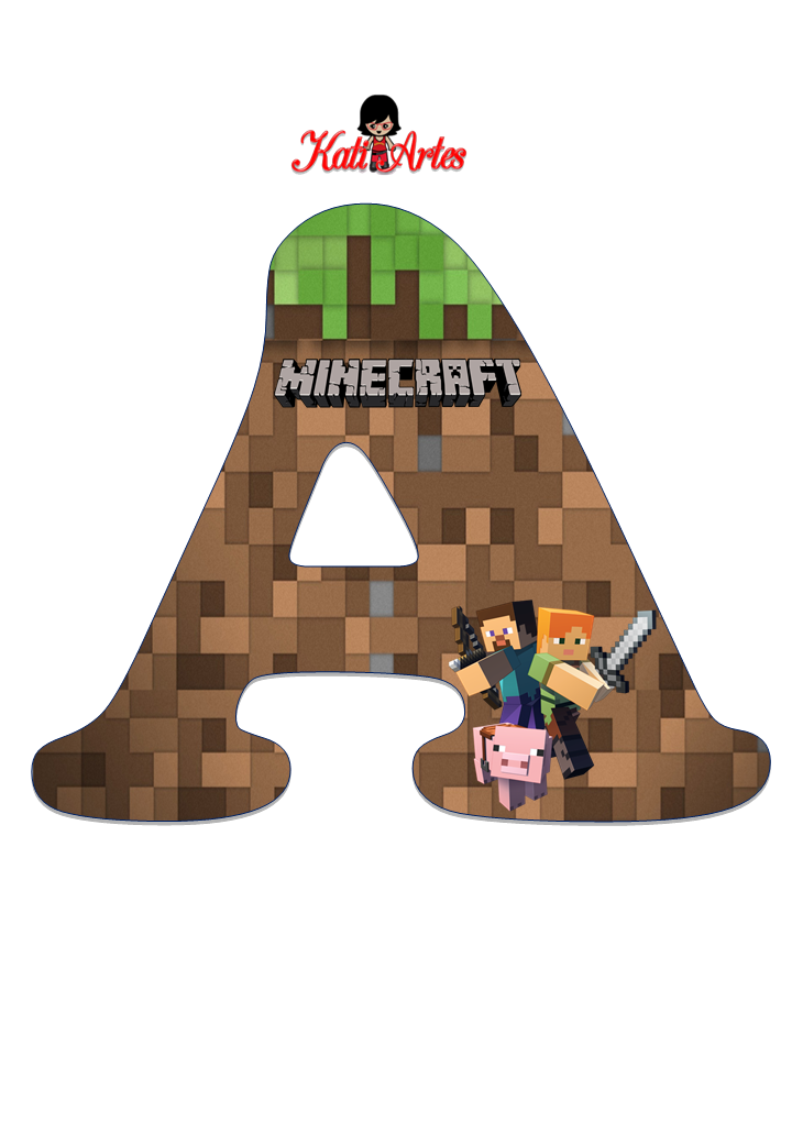 Letra E Numeros Minecraft Mine Craft Party Aniversario Mine