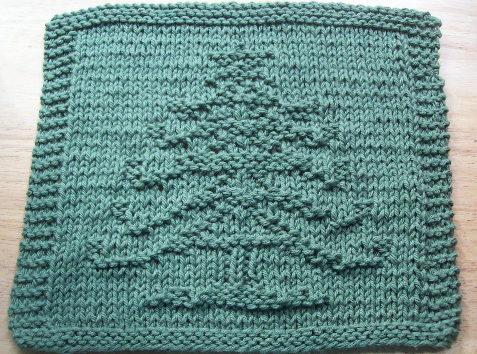 DigKnitty Designs: Another Christmas Tree Knit Dishcloth Pattern ...