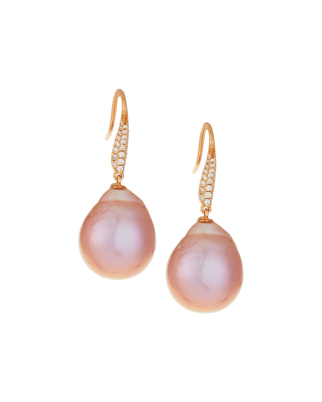 Belpearl 18k Kasumiga Pink Pearl Drop Earrings 7O7OCO4v