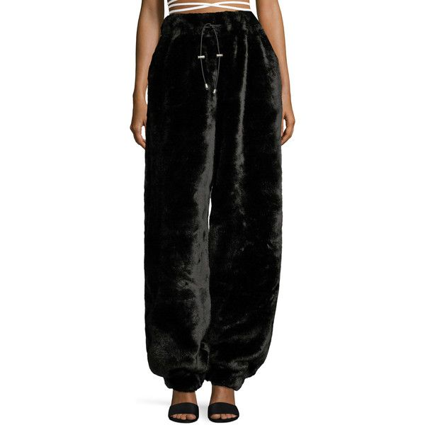 9a181b88d130 FENTY Puma x Rihanna Women s Faux Fur Sweatpants - Black