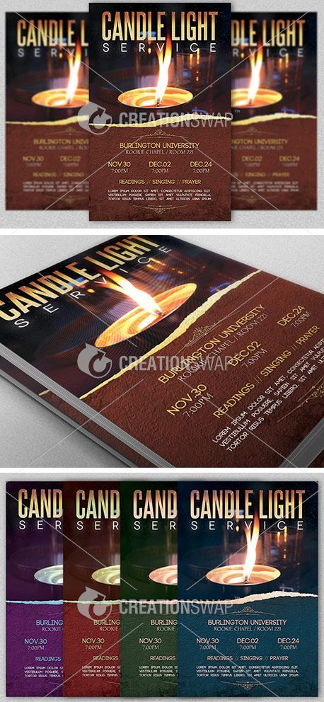 Candle Light Service Flyer Template Is For Any Church Event During