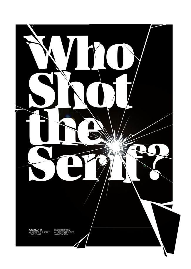 """Who shot the serif?"" #design #typography"