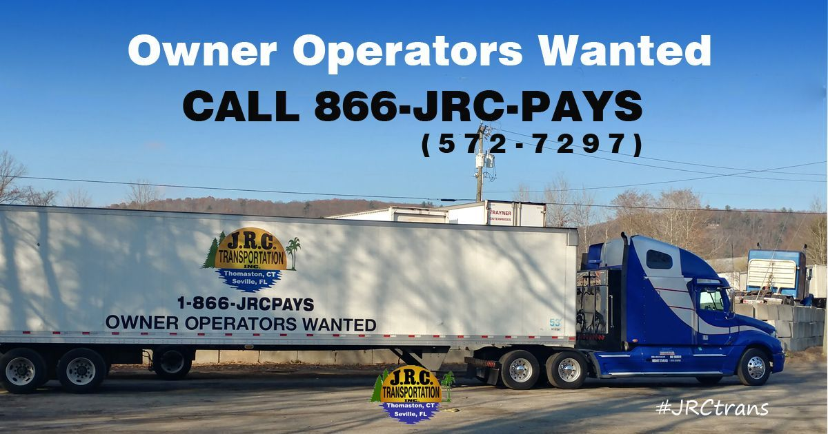 Immediate openings available for owneroperators. Regional