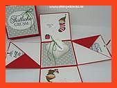 Christmas Box My first gift box for Christmas is ready I have resorted to the classic Christmas colors red and white for it I then combined them with the DP star light gr...