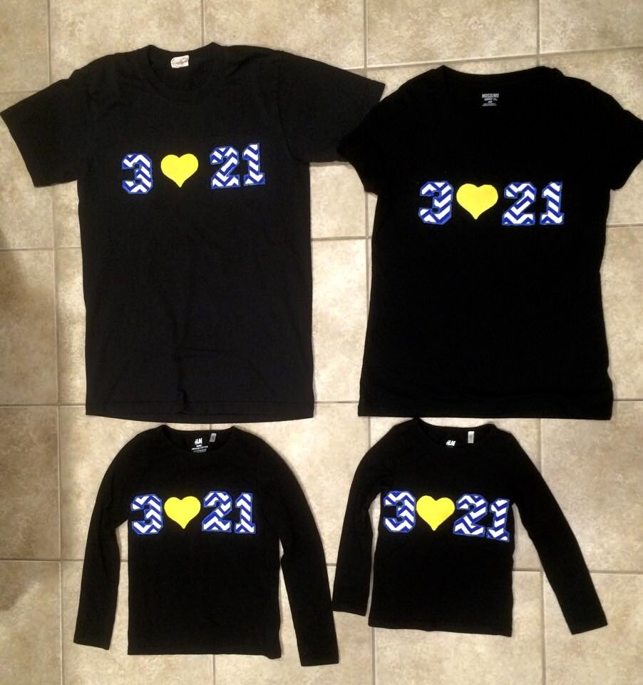 Little Girls Down Syndrome Awareness Hand Funny Short Sleeve Cotton T Shirts Basic Tops Tee Clothes