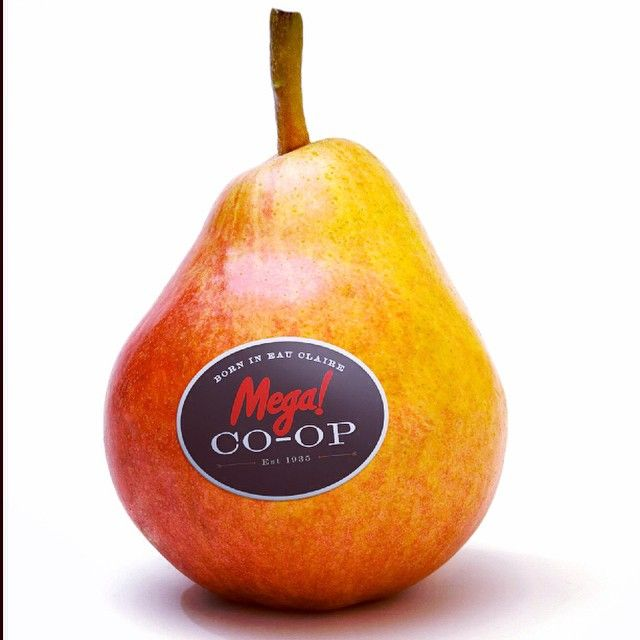 When it comes to #branding, you have to know when to grow a pear... ;-) #growapair #megacoop #megaco-op #foodbranding #typography #branding #design #culture #dancing