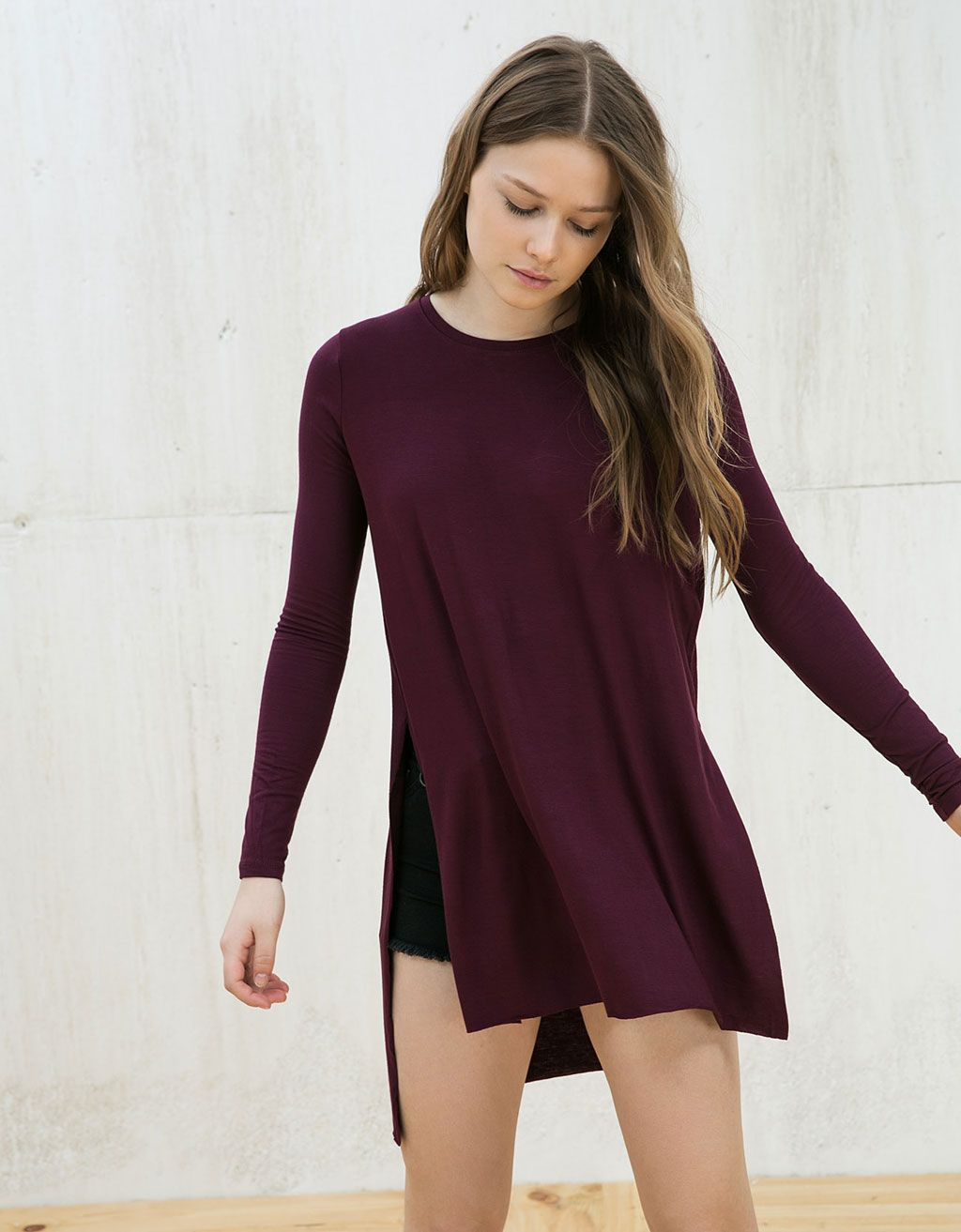 Extra Long Top With Side Openings Dance Shirts Everyday Outfits Long Tops