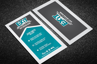 Exit Realty Business Card Templates Free Shipping Designed For Exit Keller Williams Business Cards Free Business Card Templates High Quality Business Cards