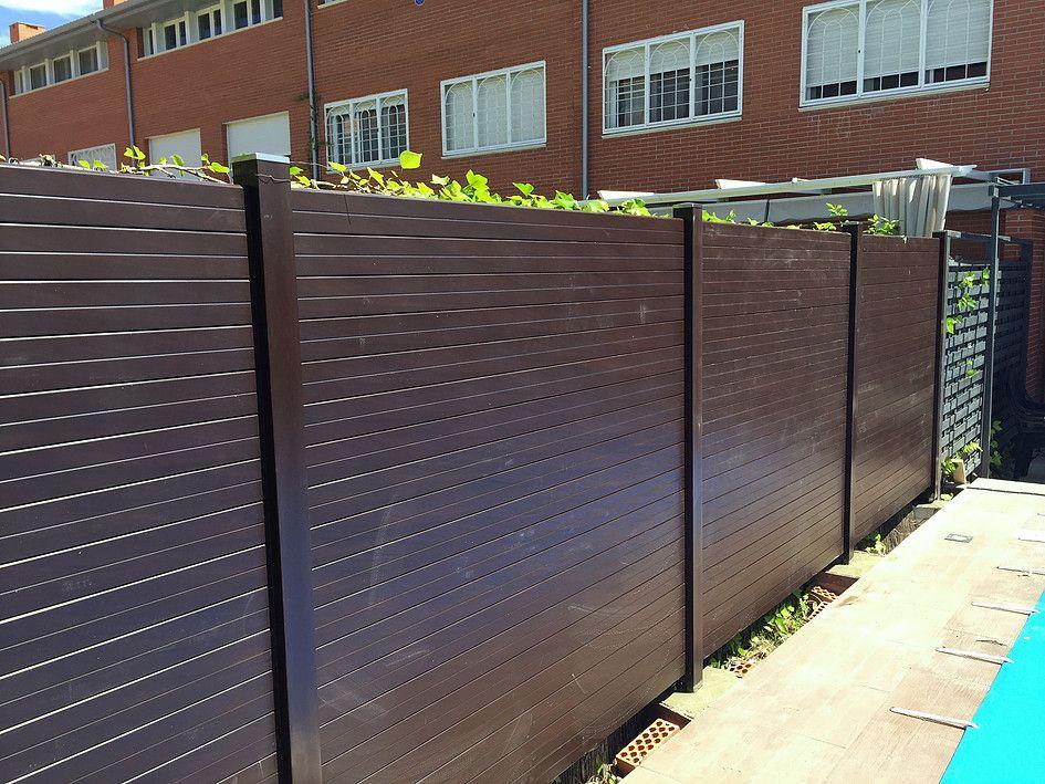 Vallas sinteticas imitacion madera terrazas pinterest - Vallas para parcelas ...