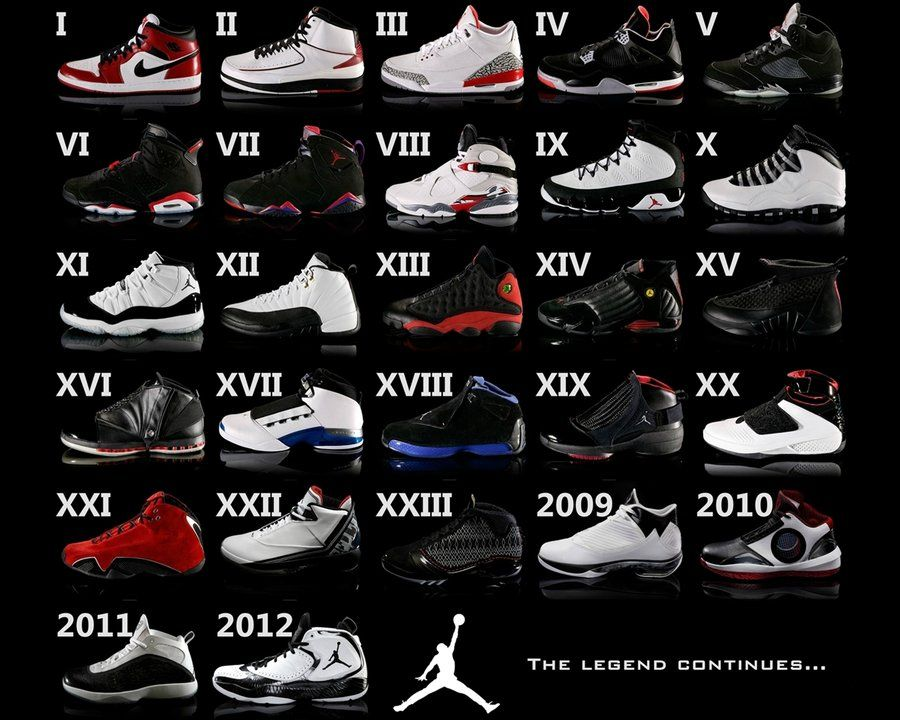 b6814cd0978d90 All The Jordans. All The Jordans Michael ...