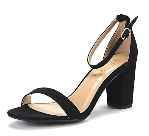 9d3109d648f DREAM PAIRS CHUNK Women s Evening Dress Low Chunky Heel Open Toe Ankle  Strap Stiletto Wedding Pumps