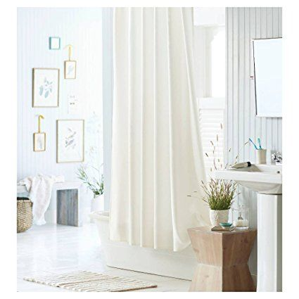 Amazon.com: Mildew Resistant Fabric Shower Curtain Waterproof/Water ...