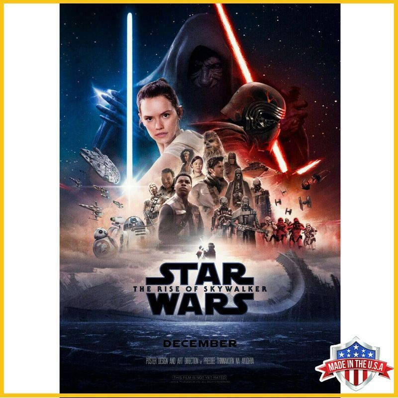 Star Wars Ix Rise Of The Skywalker 2019 Movie Made In Us Poster And Ca Star Wars Episodes Star Wars Movies Posters Star Wars Poster