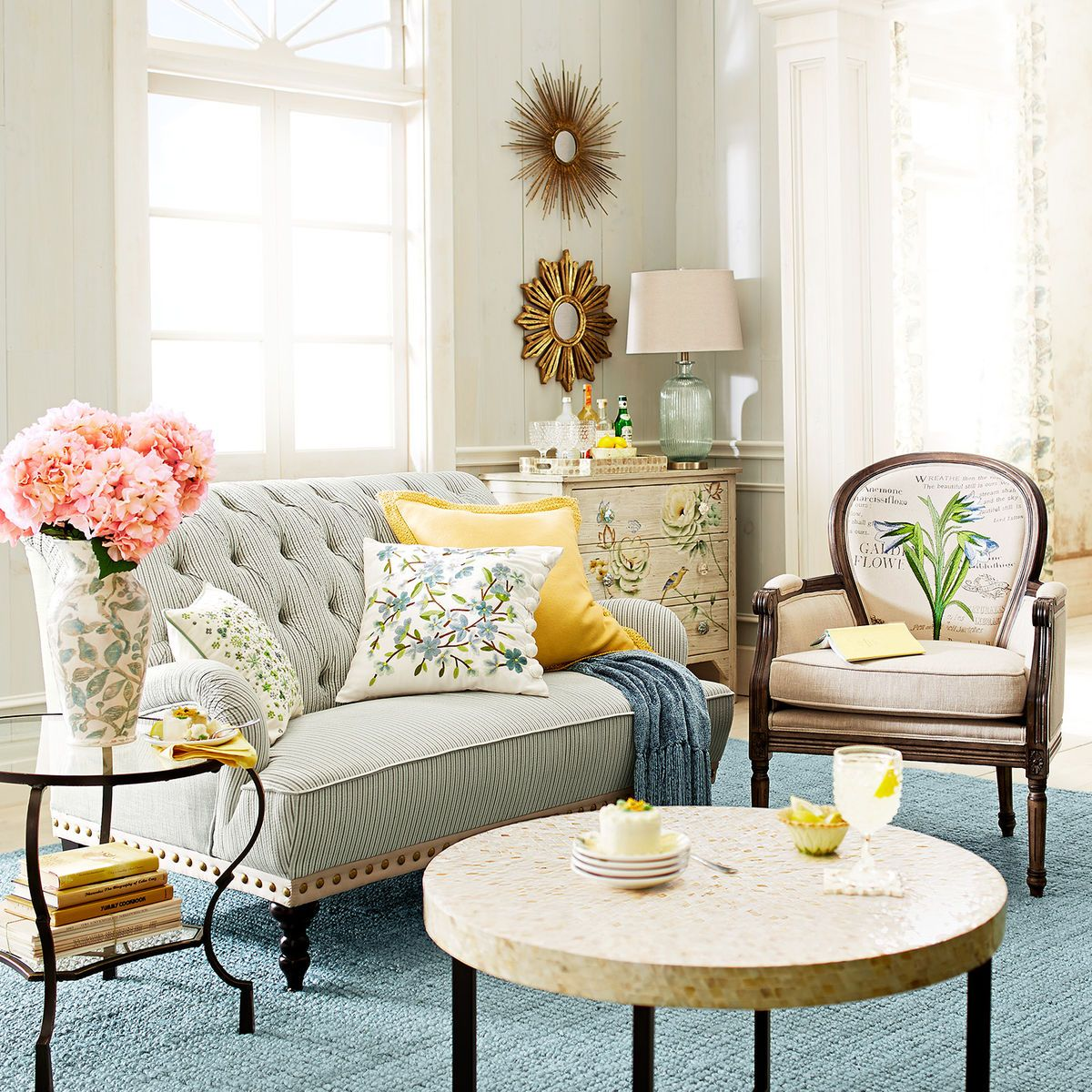 Pier One Living Room Ideas: Spring Meadow Embellished Floral Bloom Pillow