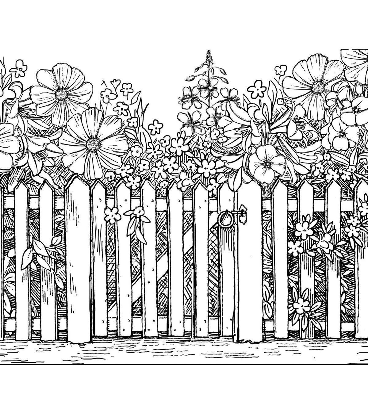 Crafty Individuals Beyond The Picket Fence Unmounted Rubber Stamp Coloring Pages Coloring Pictures Coloring Books [ 1360 x 1200 Pixel ]