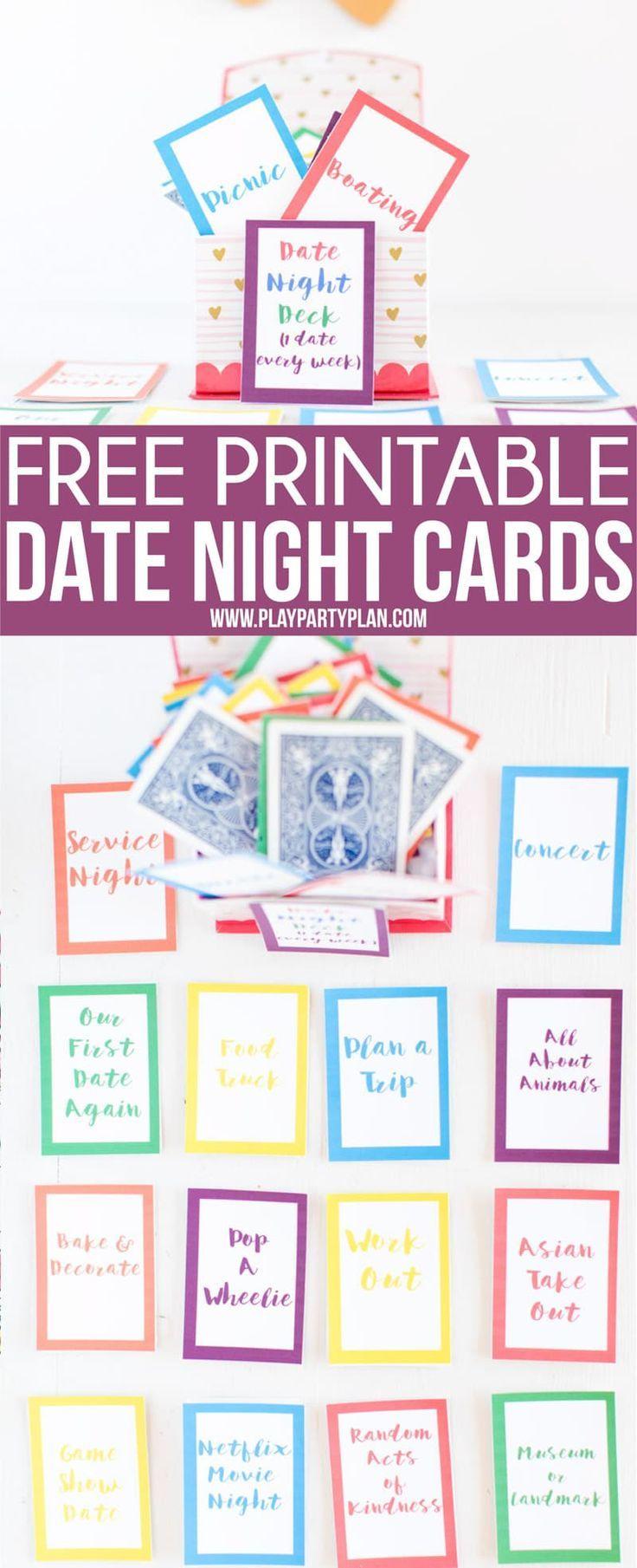 Free Printable Date Night Cards & 150+ Date Night Ideas