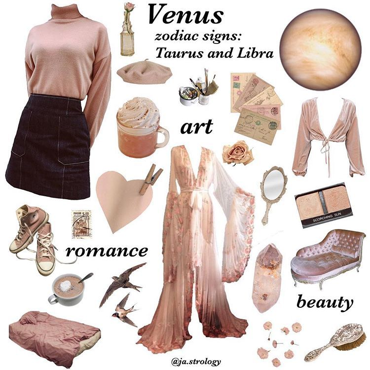 """astrology on Instagram: """"comment which one we should post next!�� ~ planet moodboard - Venus: the ruler of Taurus and Libra � (follow us: @ja.strology for more like…"""""""