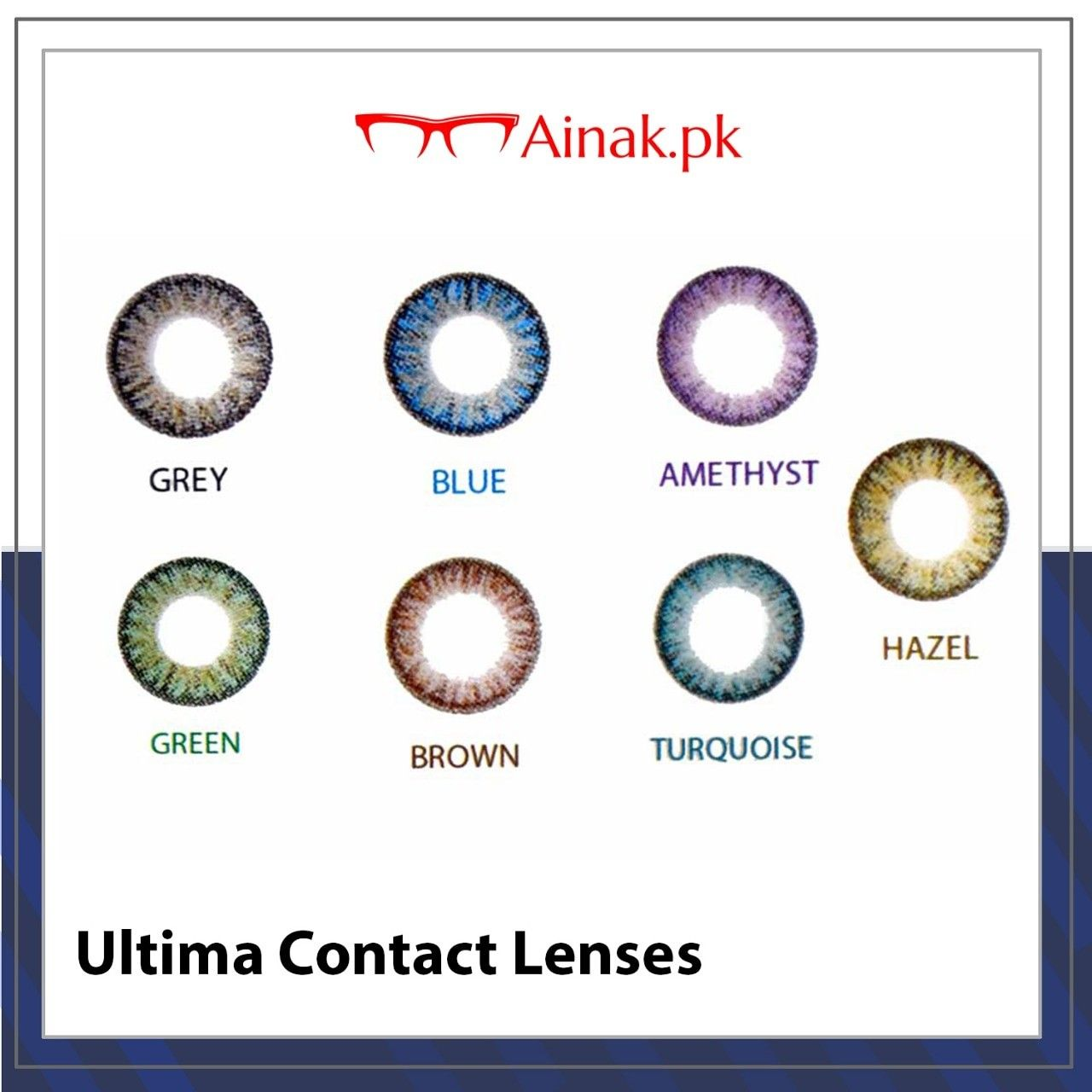 Buy Ultima Contact Lenses Online And Get Free Delivery In Pakistan Shop Now Www Ainak Pk Contact Contact Lenses Online Contact Lenses Colored Contact Lenses