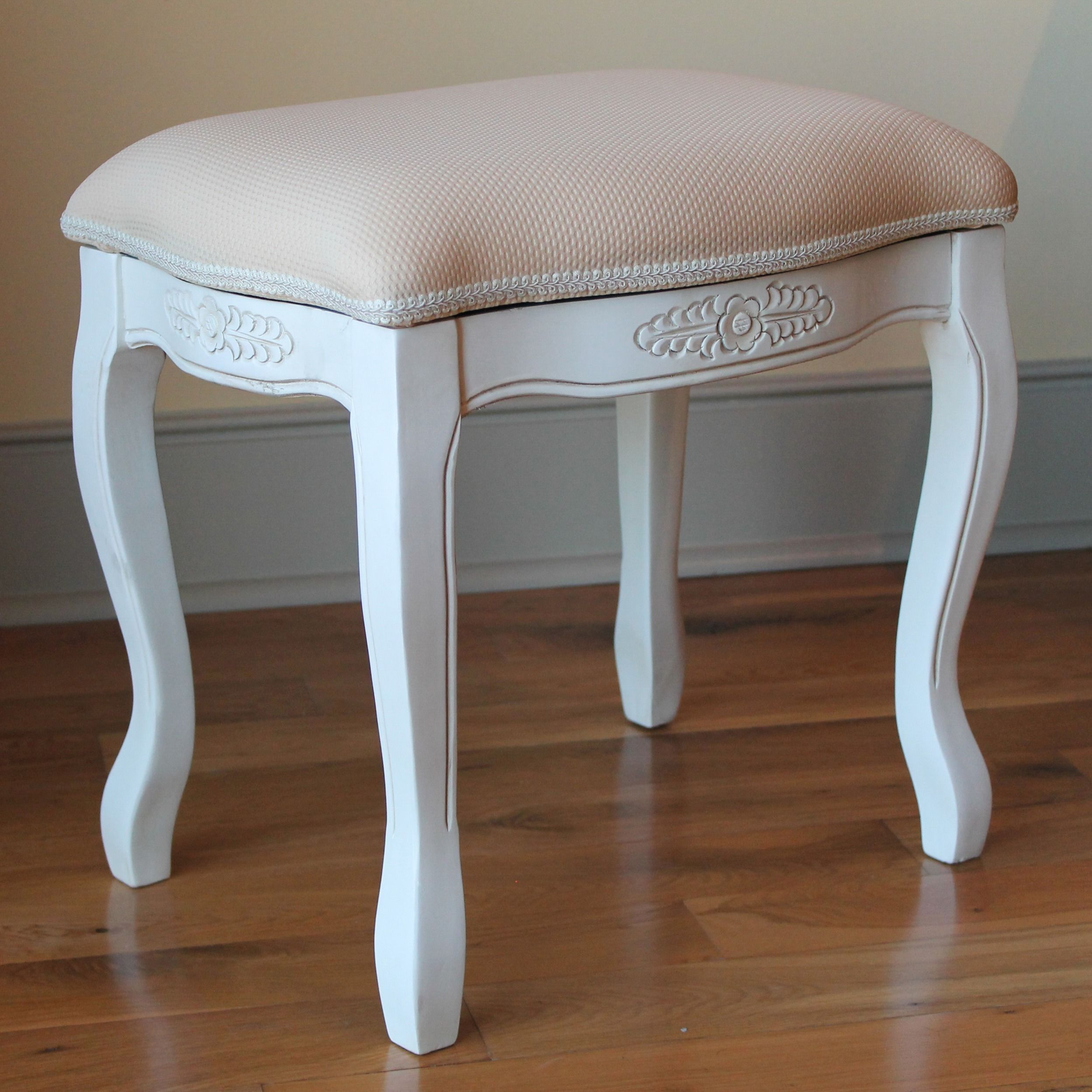 intended com hand carved londondear stool for white ophelia vanity antique adelinna decorations co