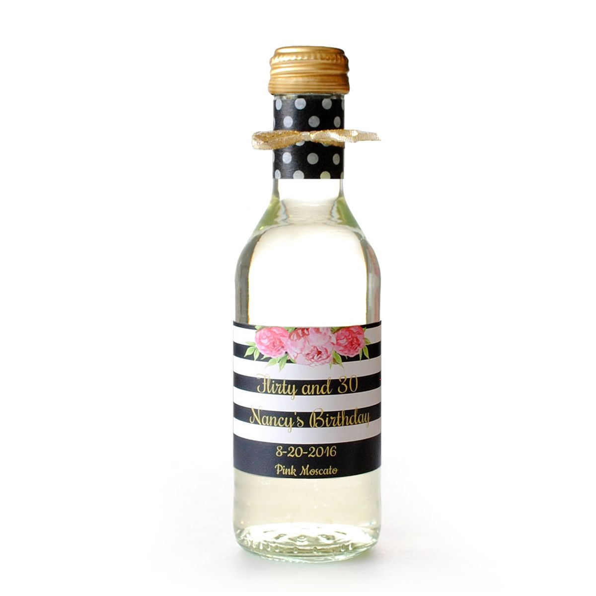 Create beautiful mini wine favors customizing this pre-made label ...