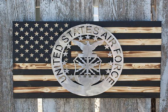 Air Force Seal - Air Force - Custom Metal Sign - Custom Wood Flag ...
