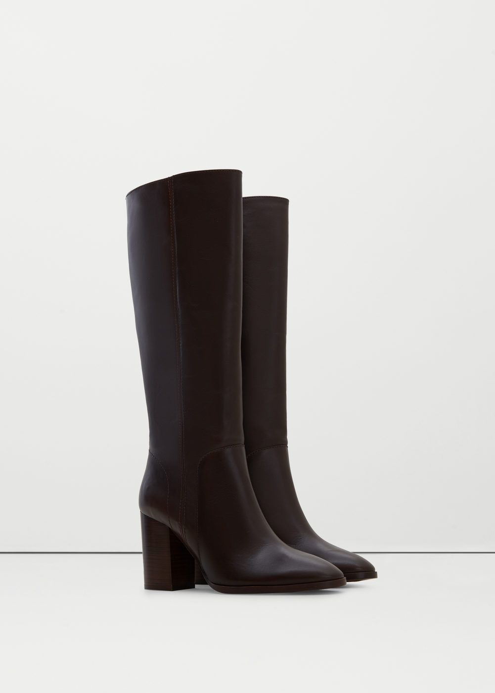 Leather high-leg boots   MANGO High Leg Boots, Ankle Boots, Mango Outlet c78b5475f82a