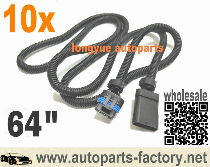 longyue 10pcs universal 6.5 6.5L turbo diesel FSD PMD relocation extension harness/ cable for cooler plate 1.6m wire