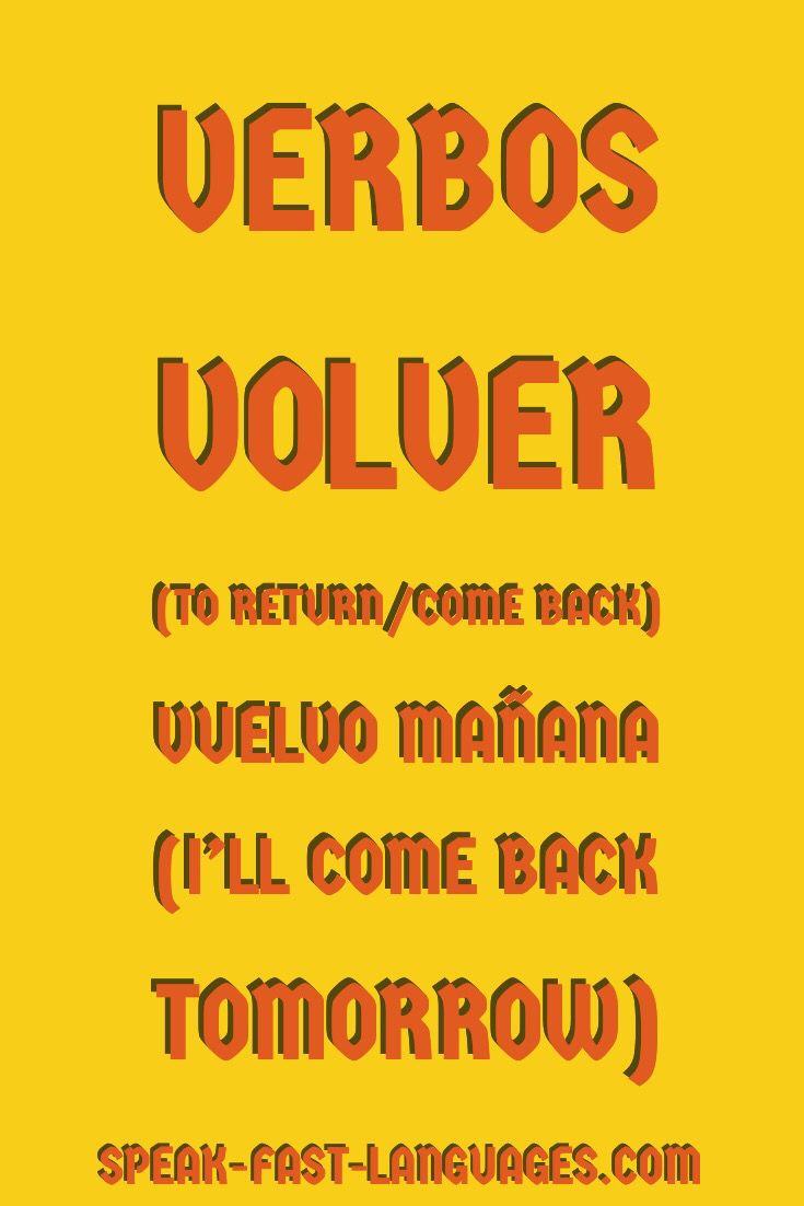 Frequently used Spanish verbs | aaa aprende español | Learning