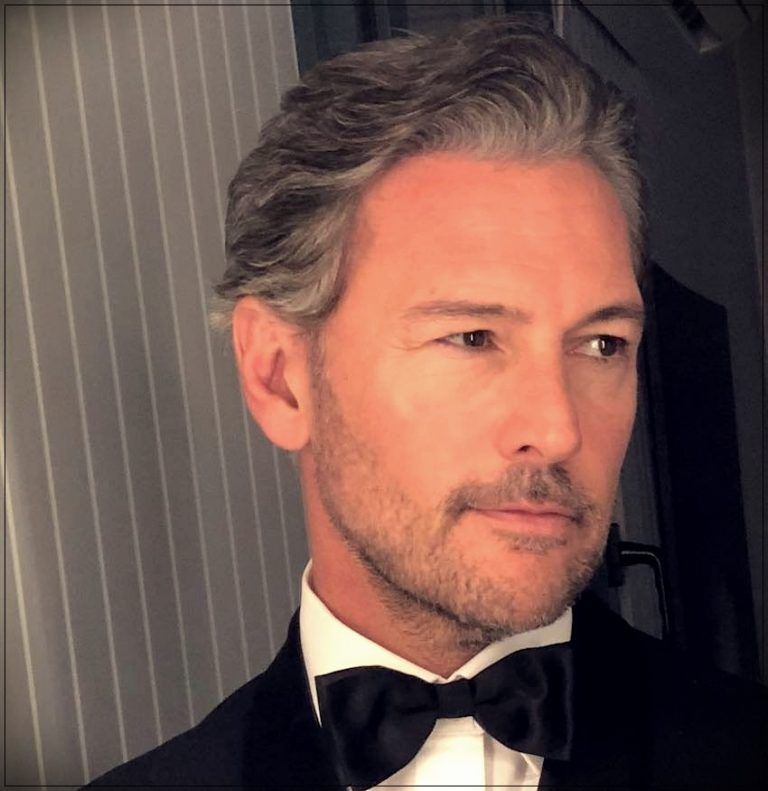 Gray hair man trends, colors and shades of 2019 Grey