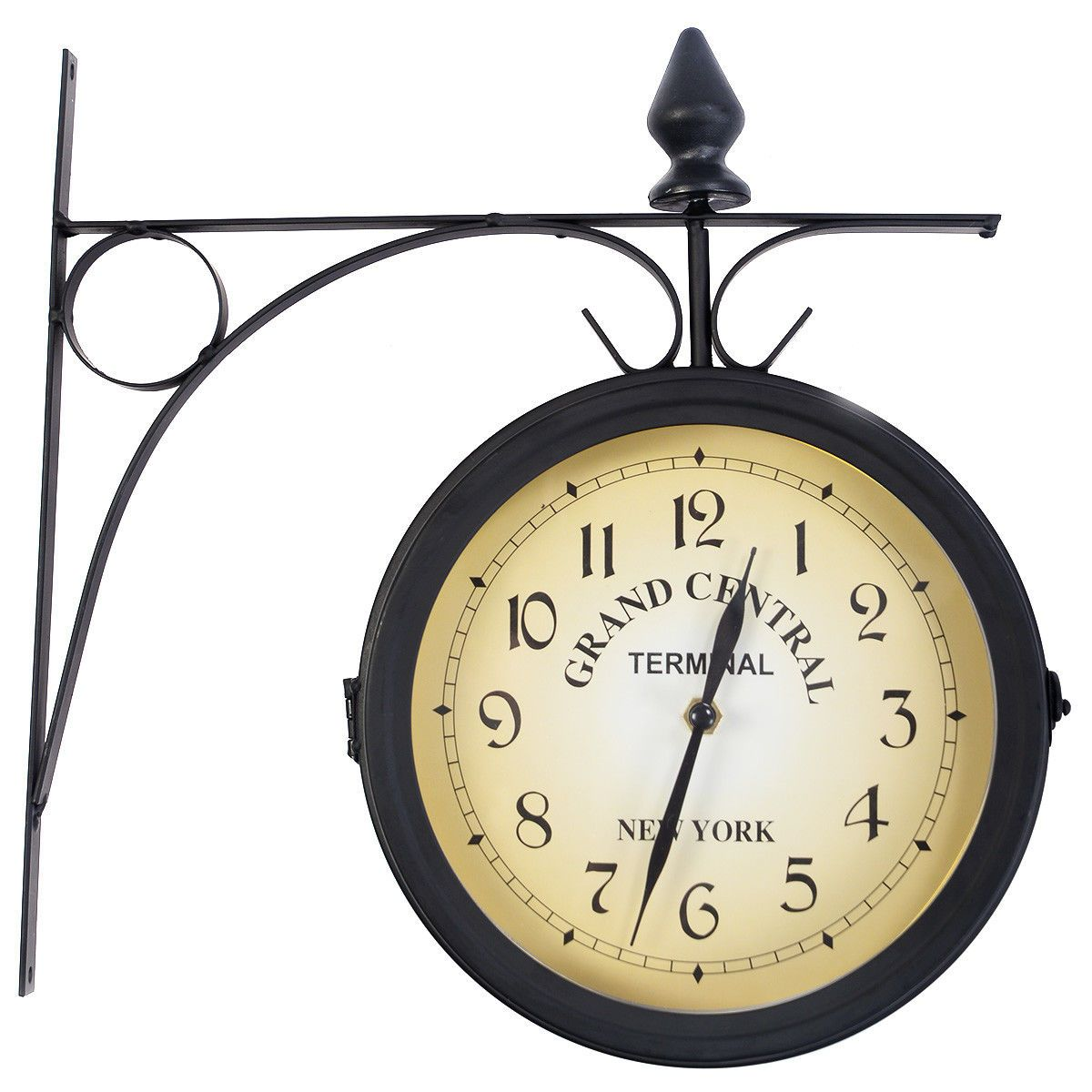 Vintage Antique Double Side Wall Mounted Station Clock Vintage Wall Clock Metal Clock Clock