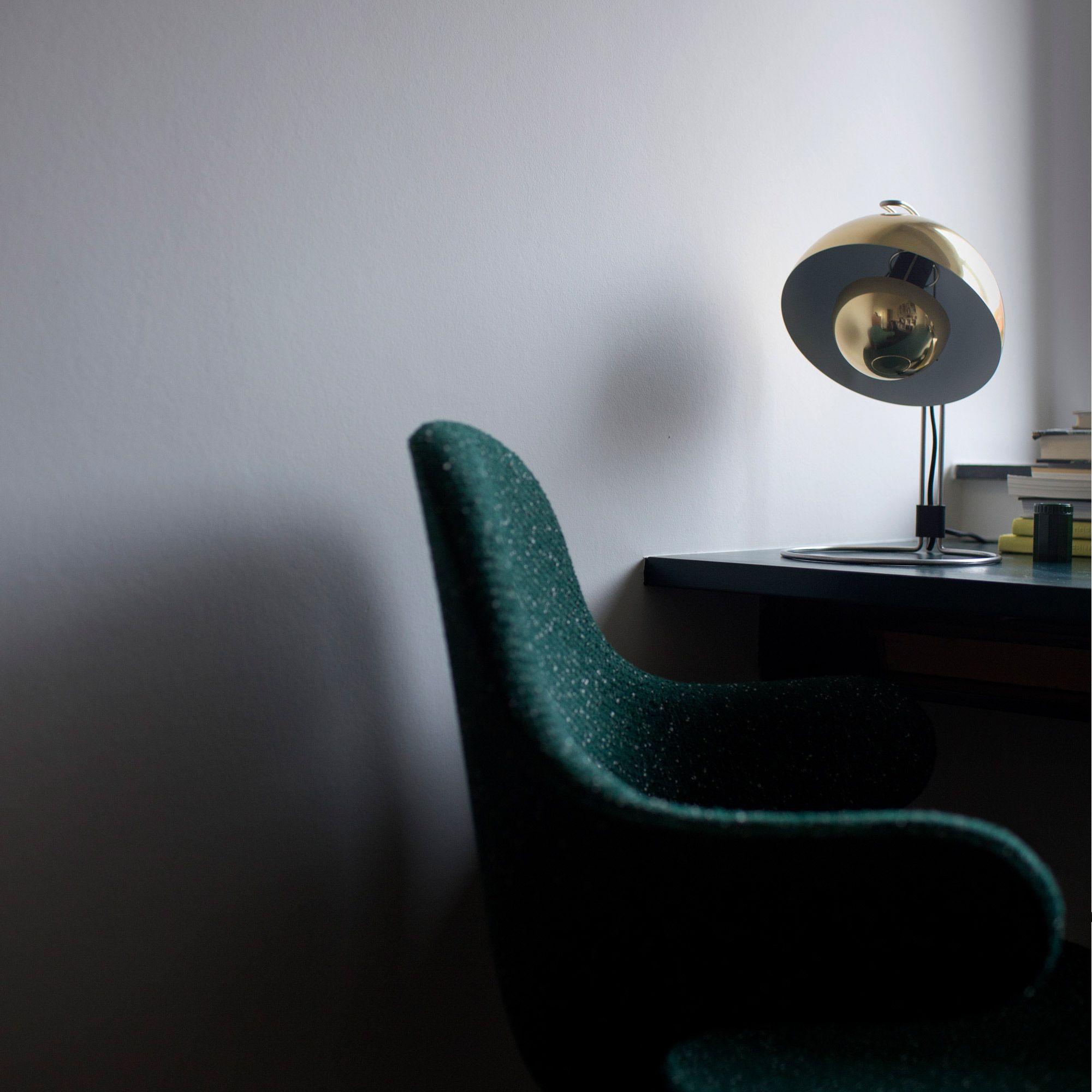Flowerpot Lampe De Bureau Laiton Or H35cm Tradition Lampe Design
