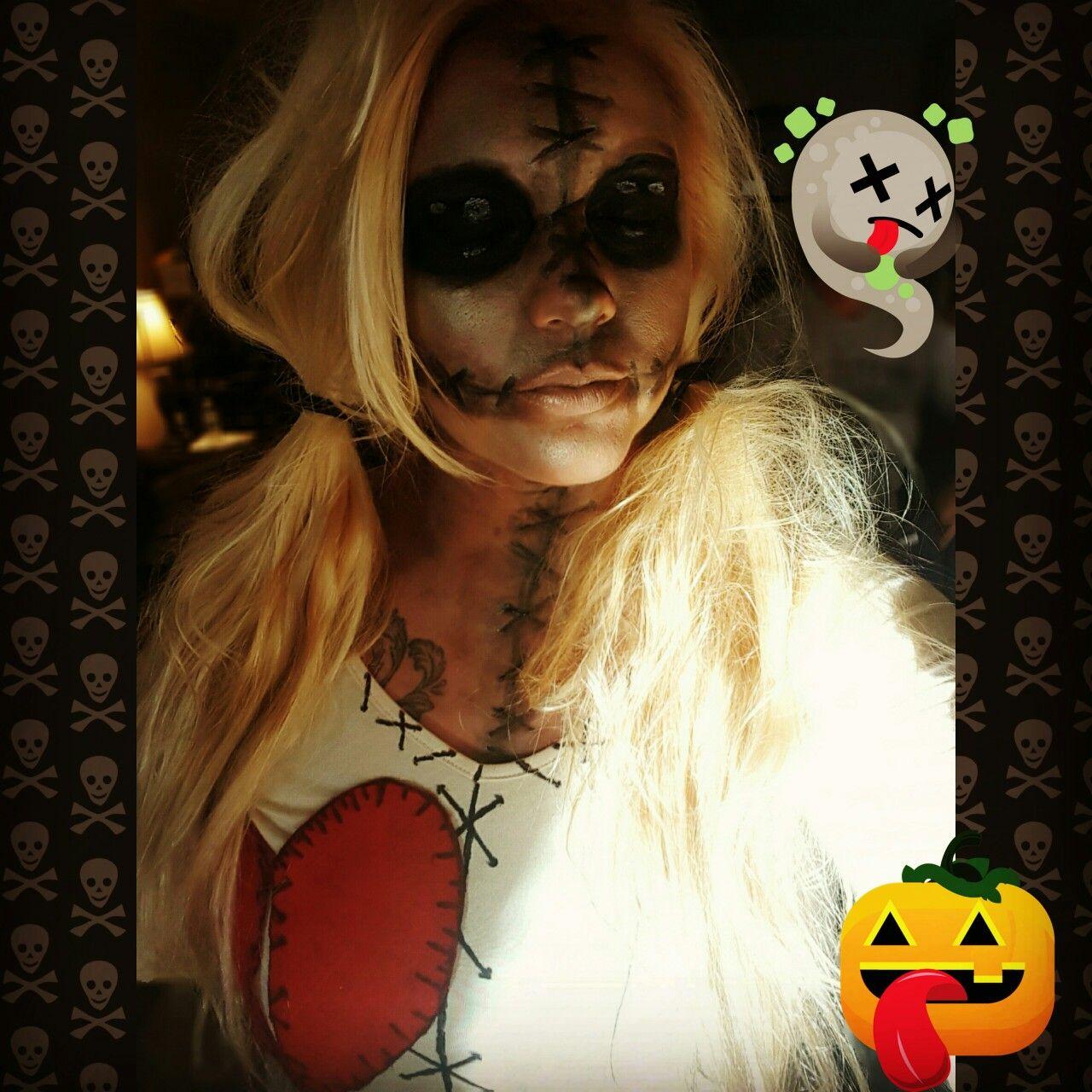 voodoo doll halloween makeup | halloween think tank | pinterest