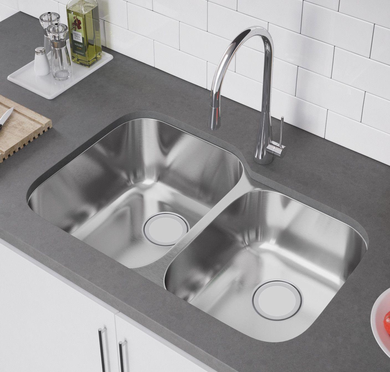 Ceco sinks kitchen sink - 32 X 21 Double Bowl Undermount Kitchen Sink