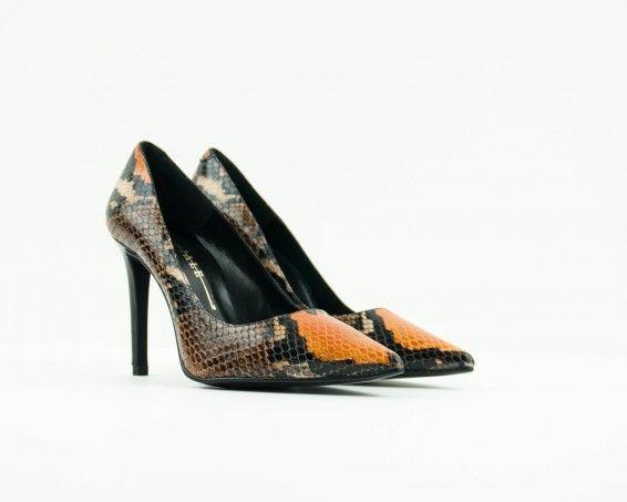 Zapato Seiale tacón alto piel pitón