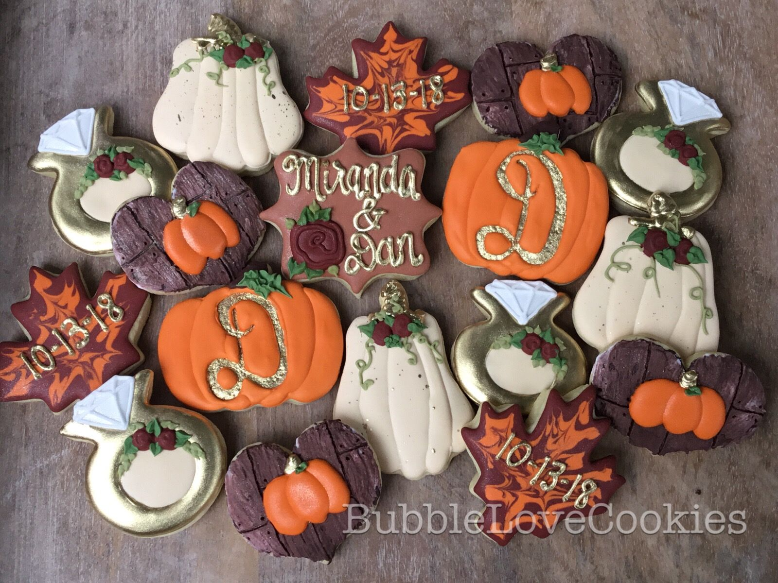 Fall Wedding Cookies With Images Wedding Shower Cookies