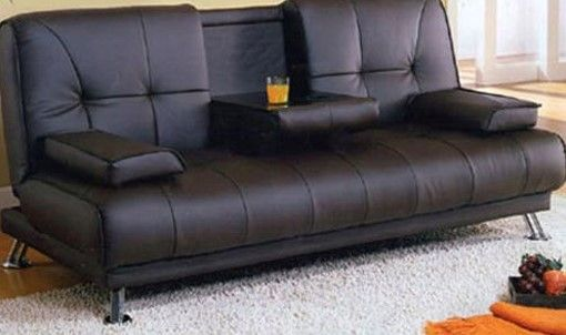 Image For Modern Leather Sofa Bed Uk Man Cave
