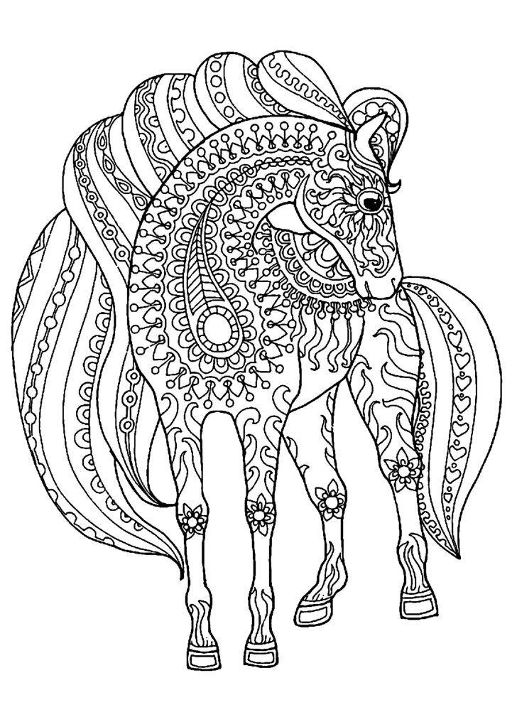 einhorn pferde mandala  ausmalbilder pferde