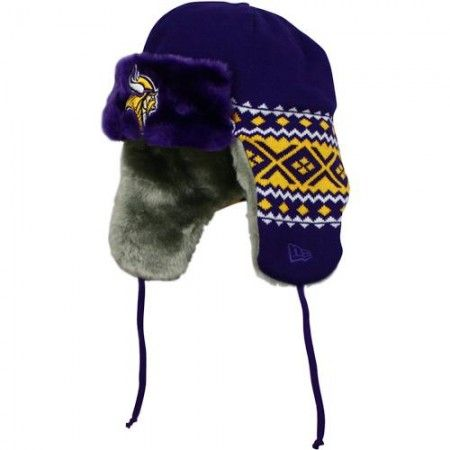 Minnesota Vikings New Era Team Trooper Trapper Hat  7bd42a5f2a9