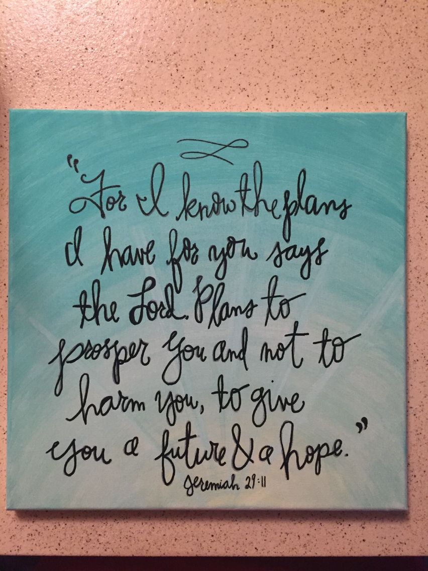 Jeremiah 29 11 Painted 12 X12 Canvas Available At Quteseecanvas On Etsy Bible Art Journaling Painting Crafts Bible Art