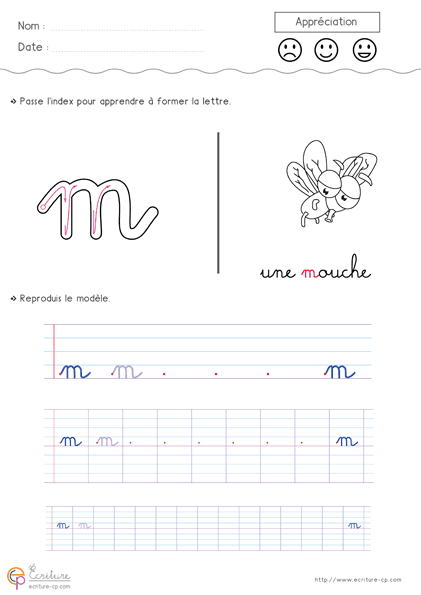 souvent Apprendre à écrire l'alphabet en minuscule à imprimer: Feuille d  QP83